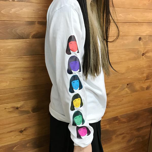 ロングTシャツ 袖プリント1